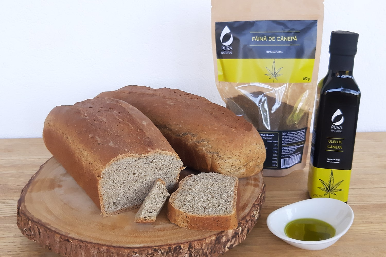 Bread recipe with hemp flour